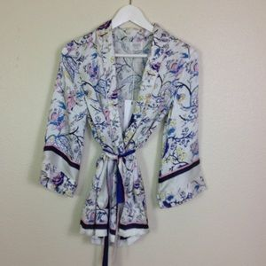Hemant & Nandita - Silk Kimono Top